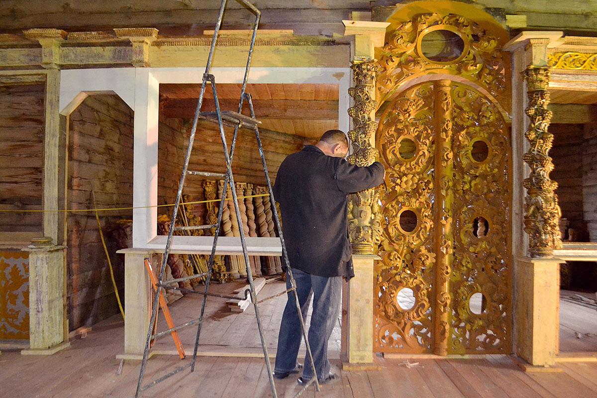 Восстановление иконостаса в храме Вознесения Господня с.Воскресенское